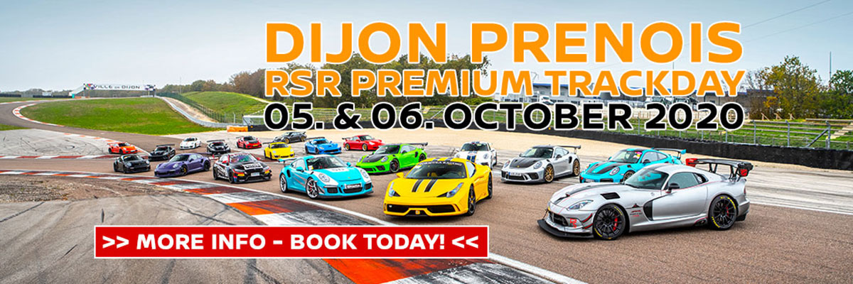 Dijon Prenois – RSR Premium Trackday 05 et 06 octobre 2020